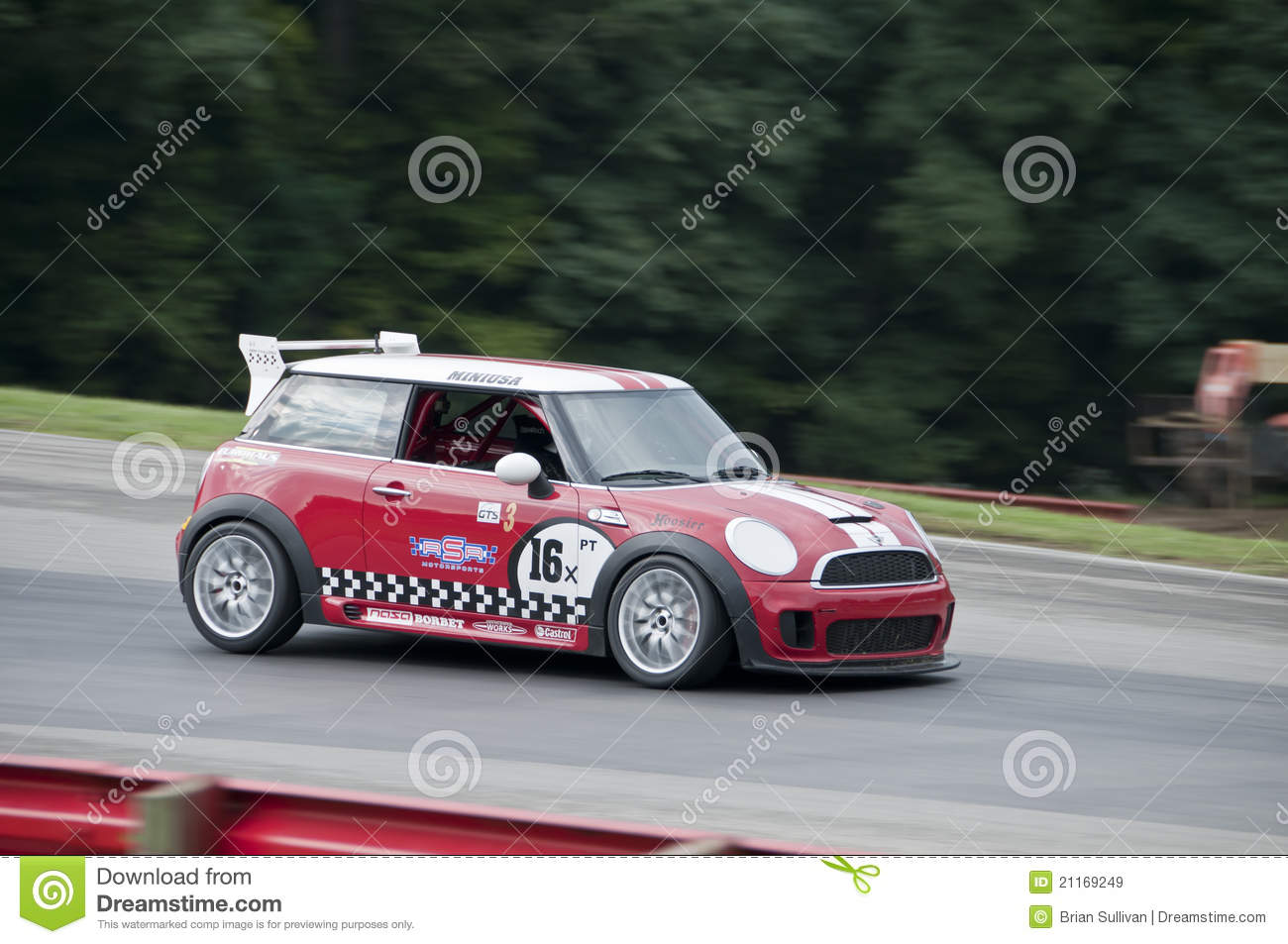 Mini Cooper race car editorial stock image. Image of speed - 21169249