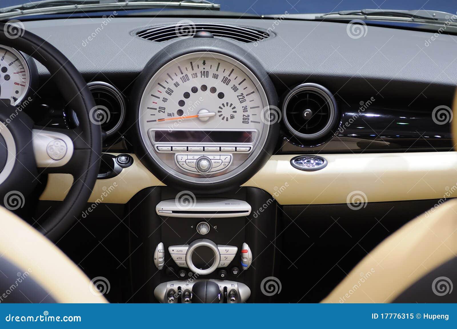 Mini cooper s Car interior stock image. Image of airbag - 17776315
