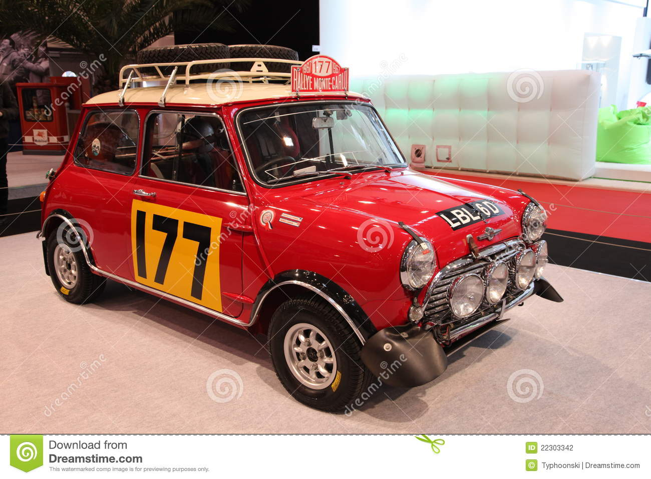 Mini Cooper S Rally editorial photography. Image of design - 22303342