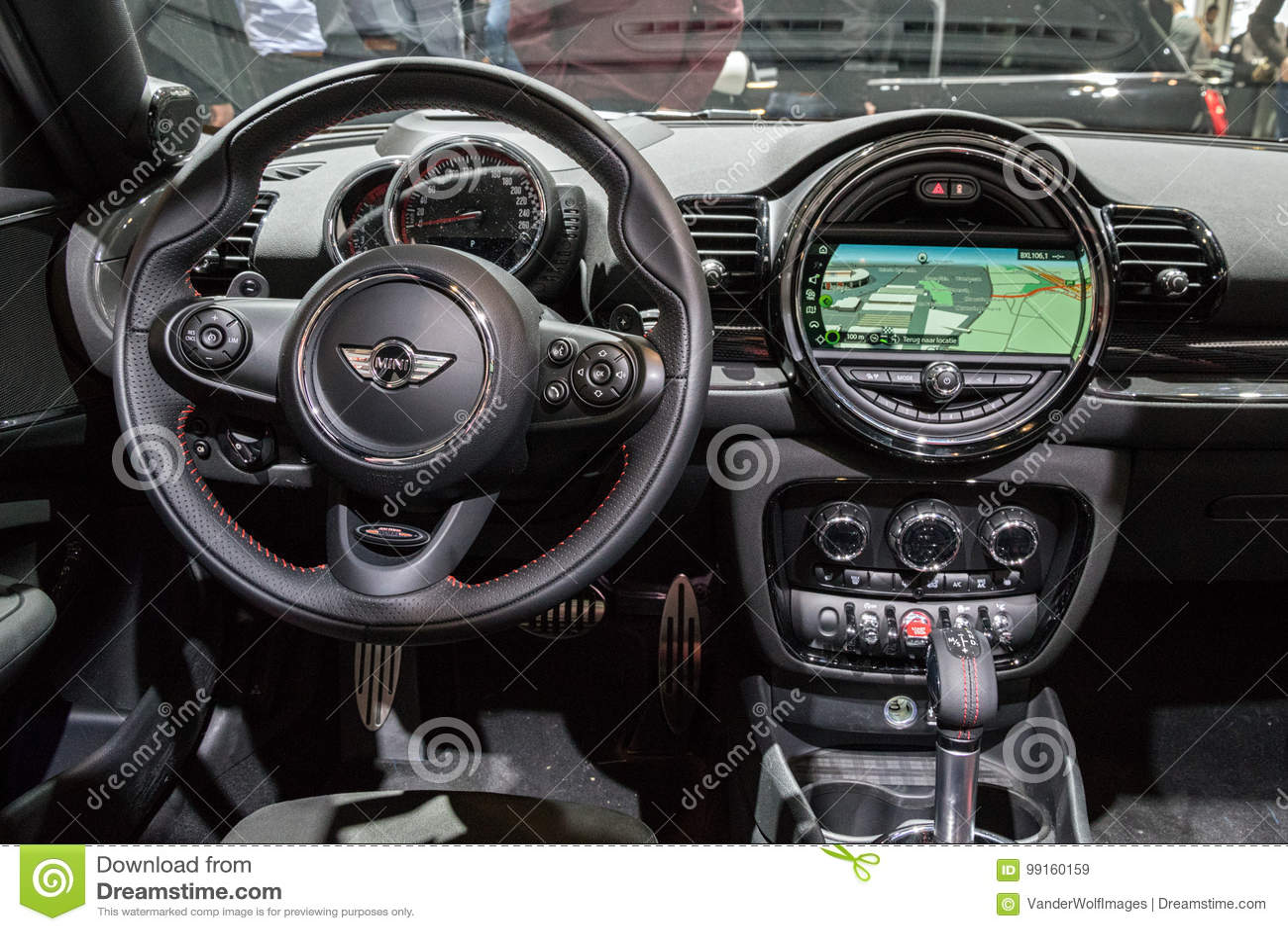 Mini Cooper Samochodu Deska Rozdzielcza Obraz Stock Editorial