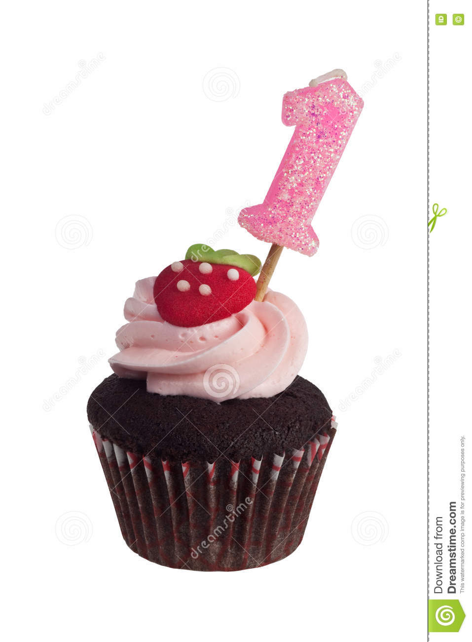 Mini Cupcake With Birthday Candle For One Year Old