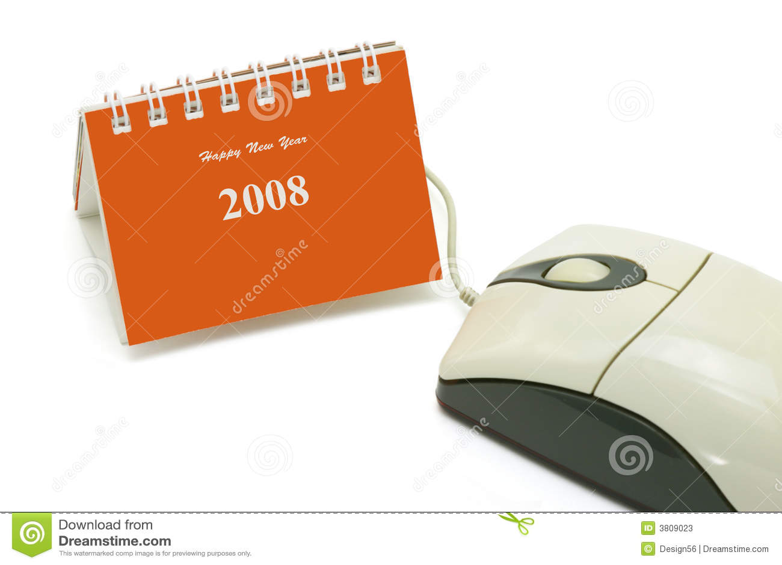Mini Desktopkalender en computermuis