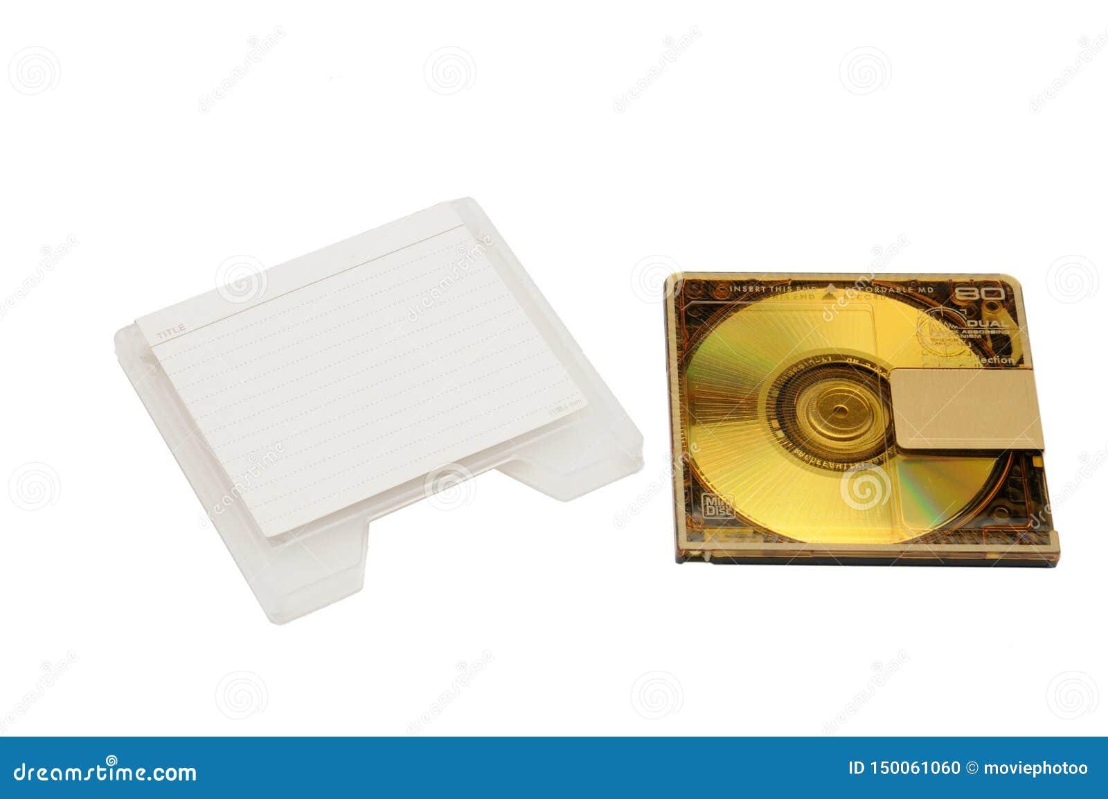 Mini Disc affinchè la registrazione ed ascoltare suonino su un fondo isolato