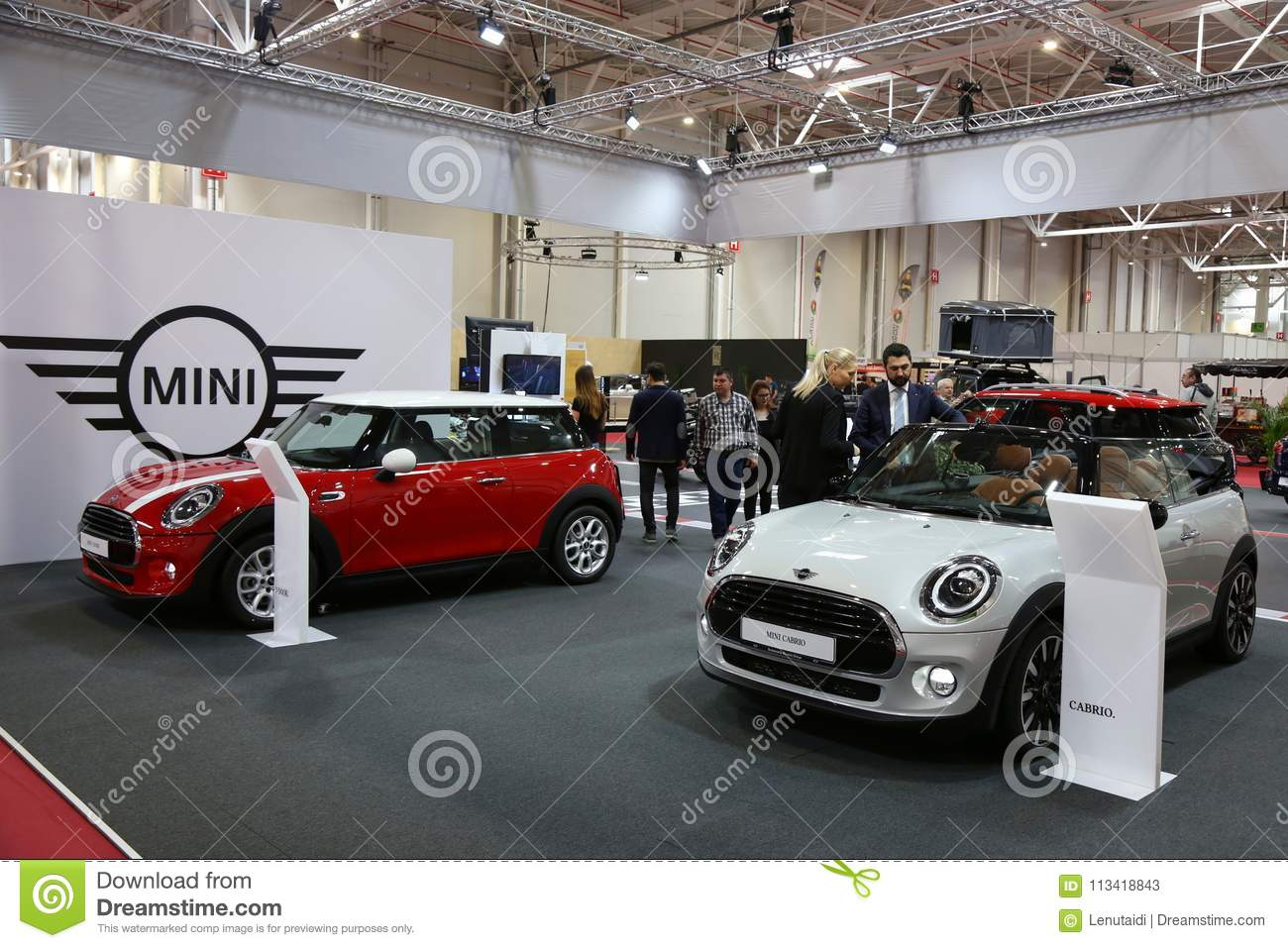 Mini 5 Door At Siab 2018 Romexpo Romania Editorial Stock Photo