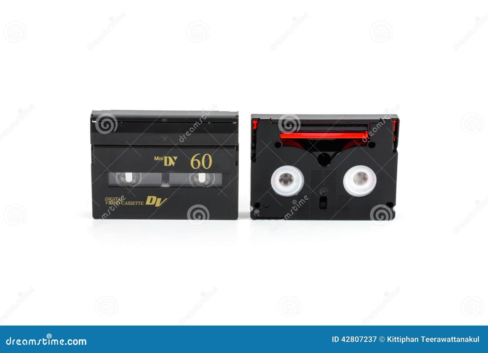 Mini DV kasety odizolowywać na bielu
