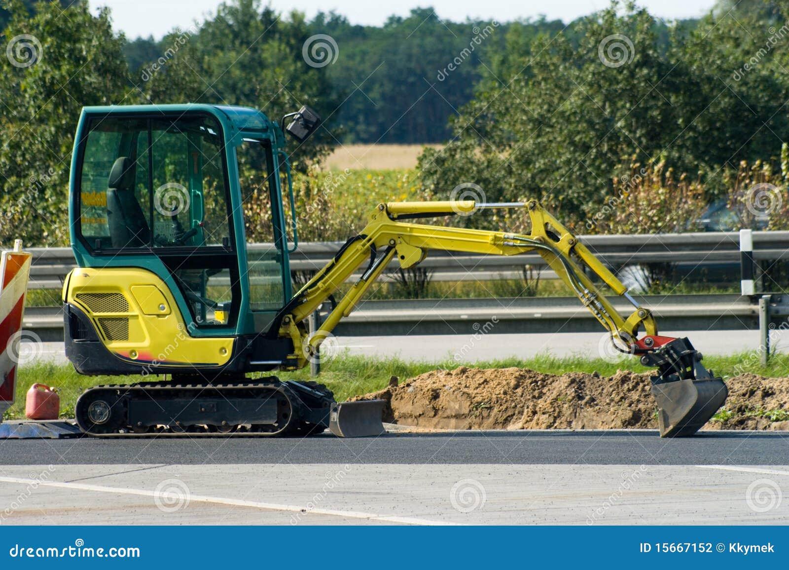 Mini ekskawator autostrada