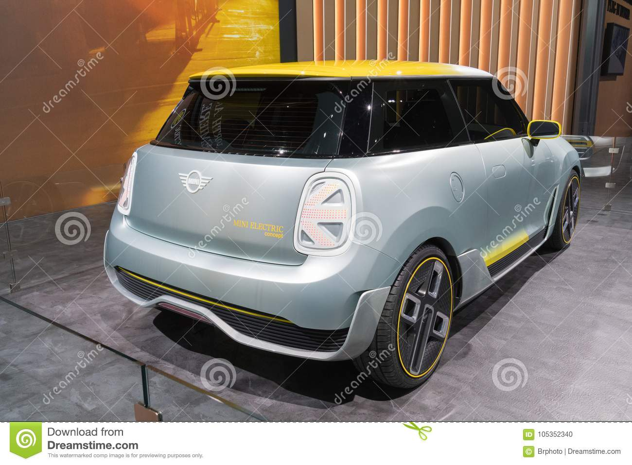 Mini Electric Concept On Display During La Auto Show Editorial Image
