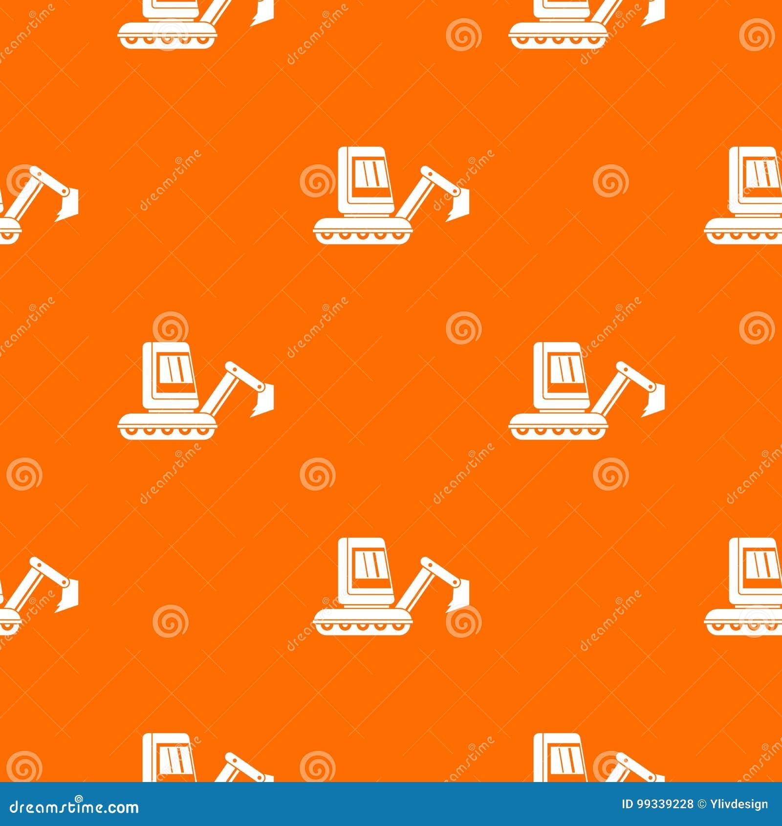 Mini Excavator Pattern Seamless Stock Vector Illustration Of