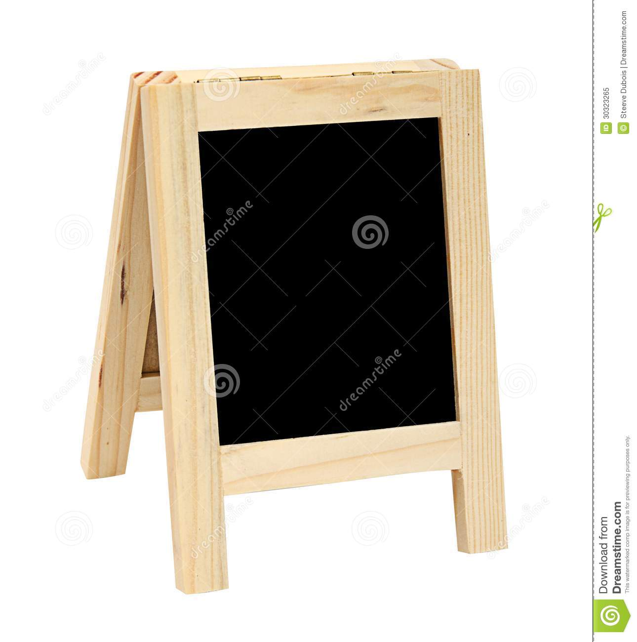 mini free standing blackboard stock image image of blackboard