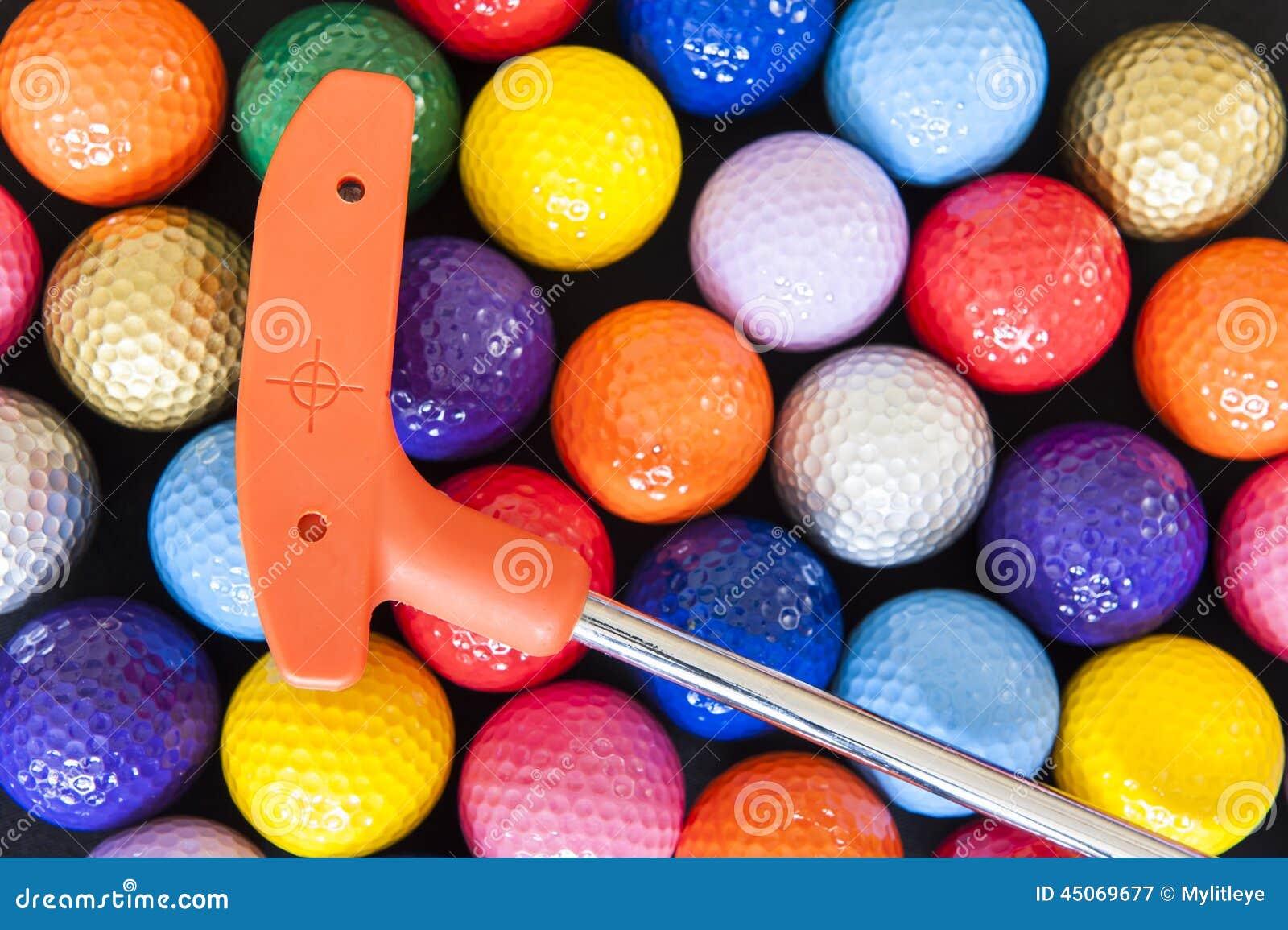 Mini Golf Balls and Club