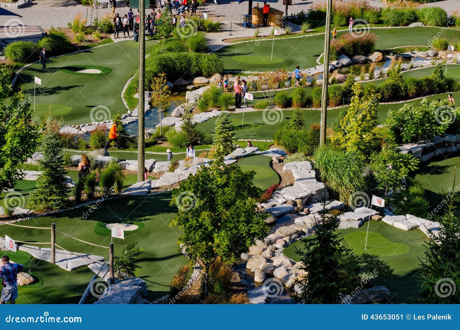 Mini Golf Course Editorial Photo Image 43653051