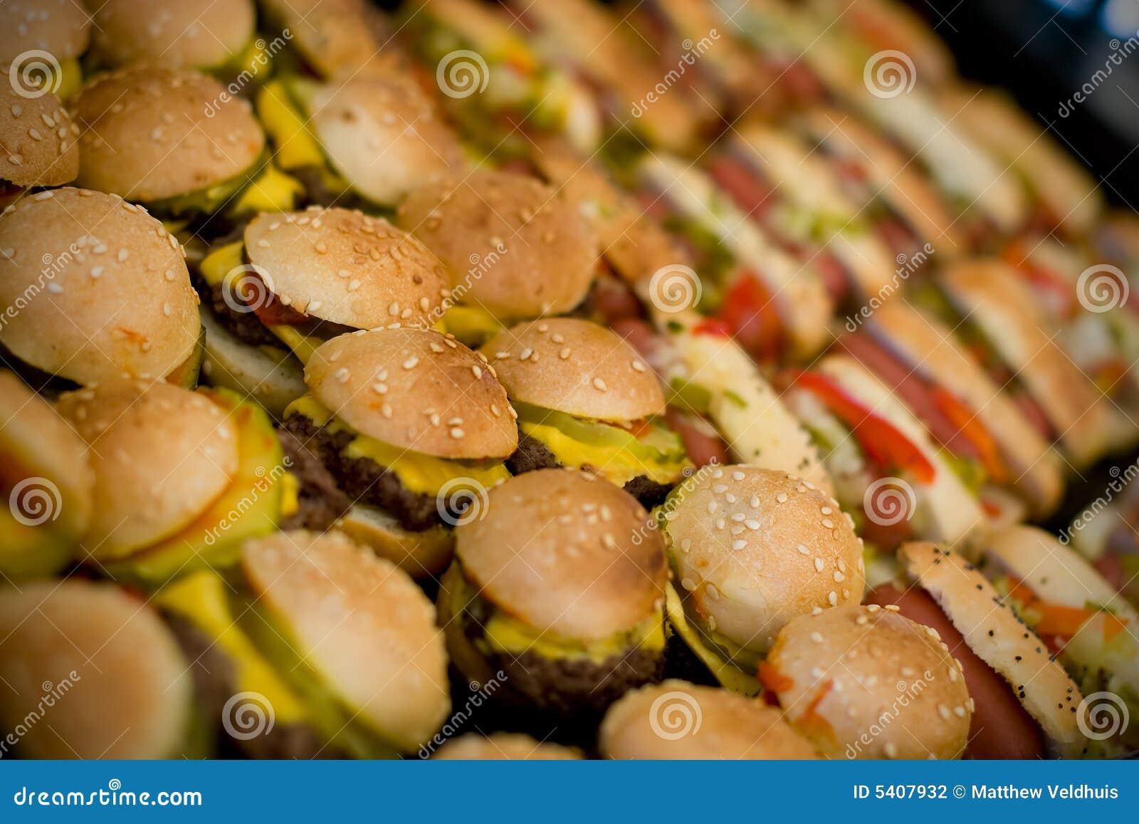 Mini Hamburgers And Hotdogs Stock Photo Image 5407932