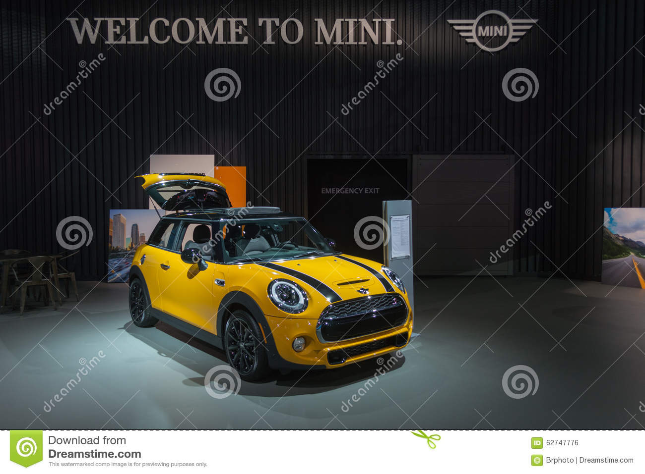 Mini hardtop on display editorial photo image 62747776 for Dream motors los angeles