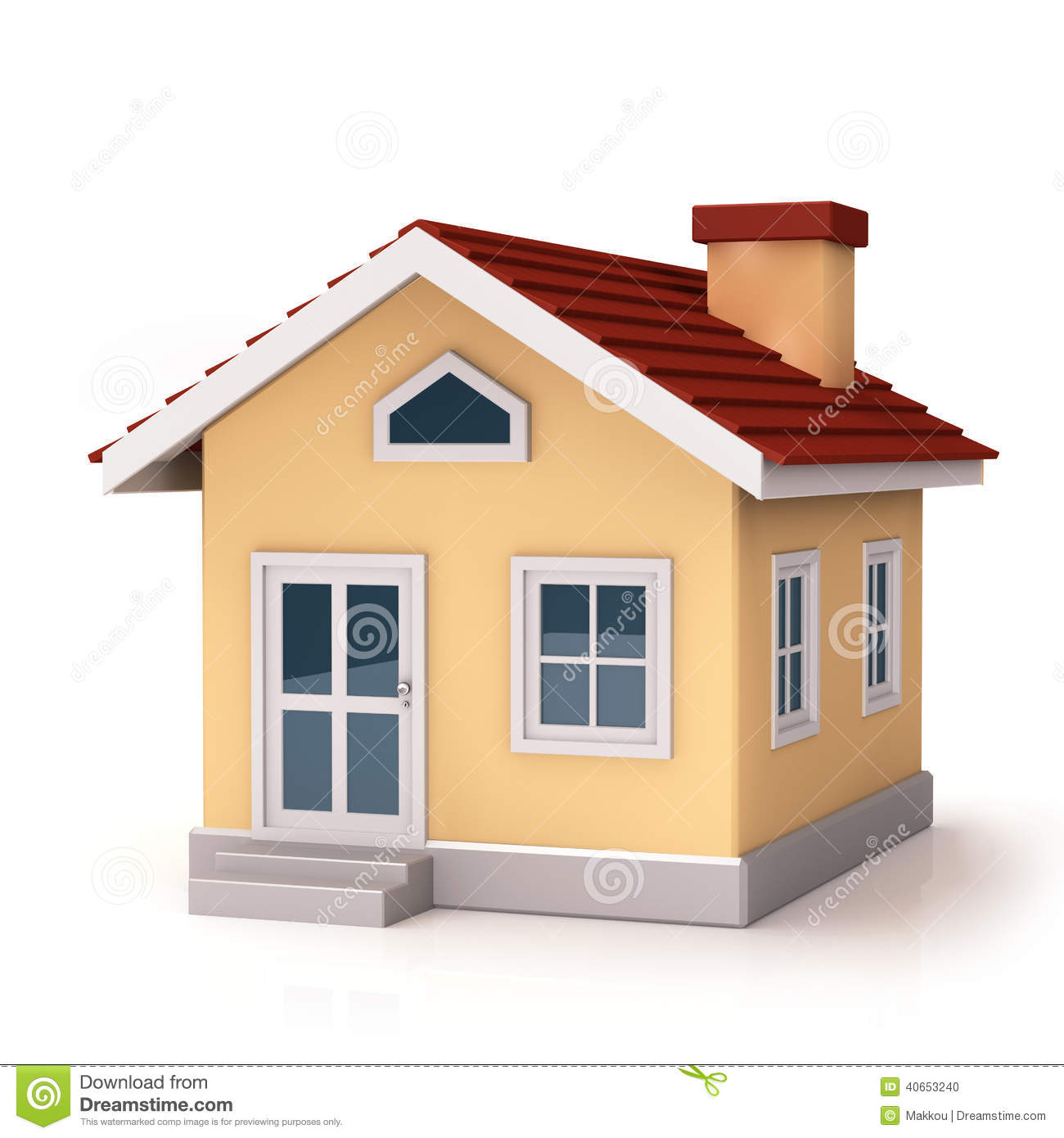 Mini house front side stock illustration illustration of for Design of home front side