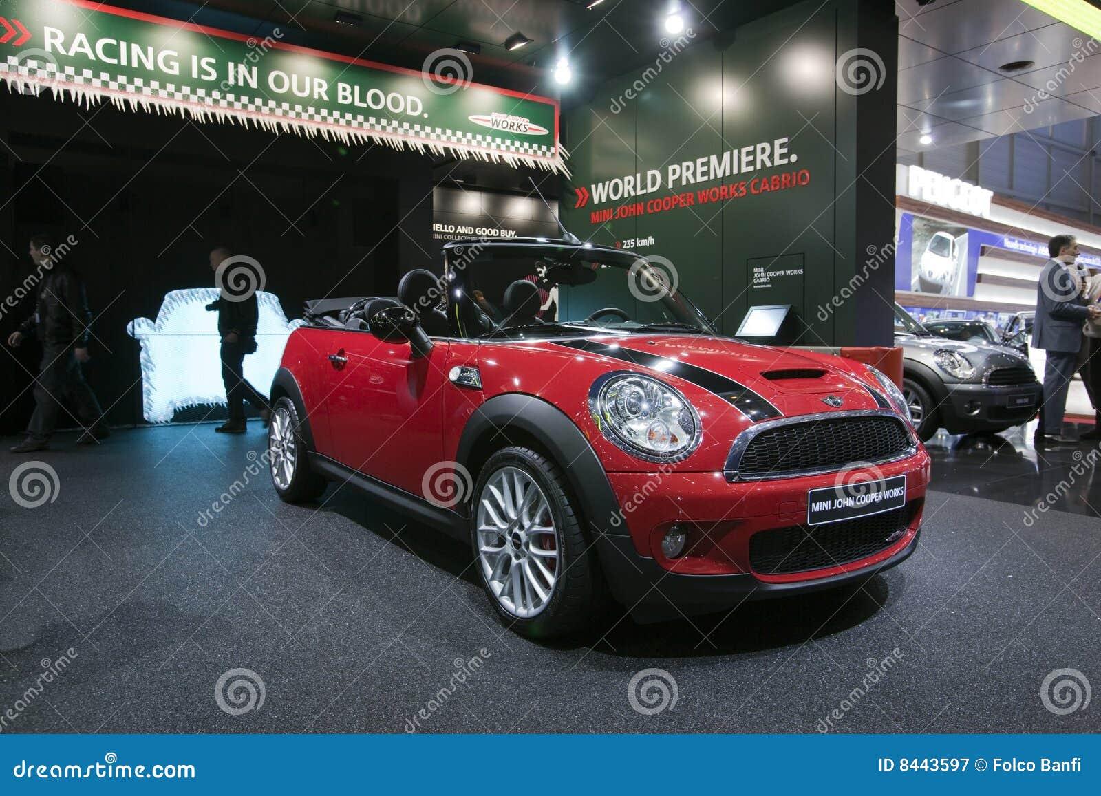 Mini John Cooper Works Cabrio Geneva 2009 Editorial Photography
