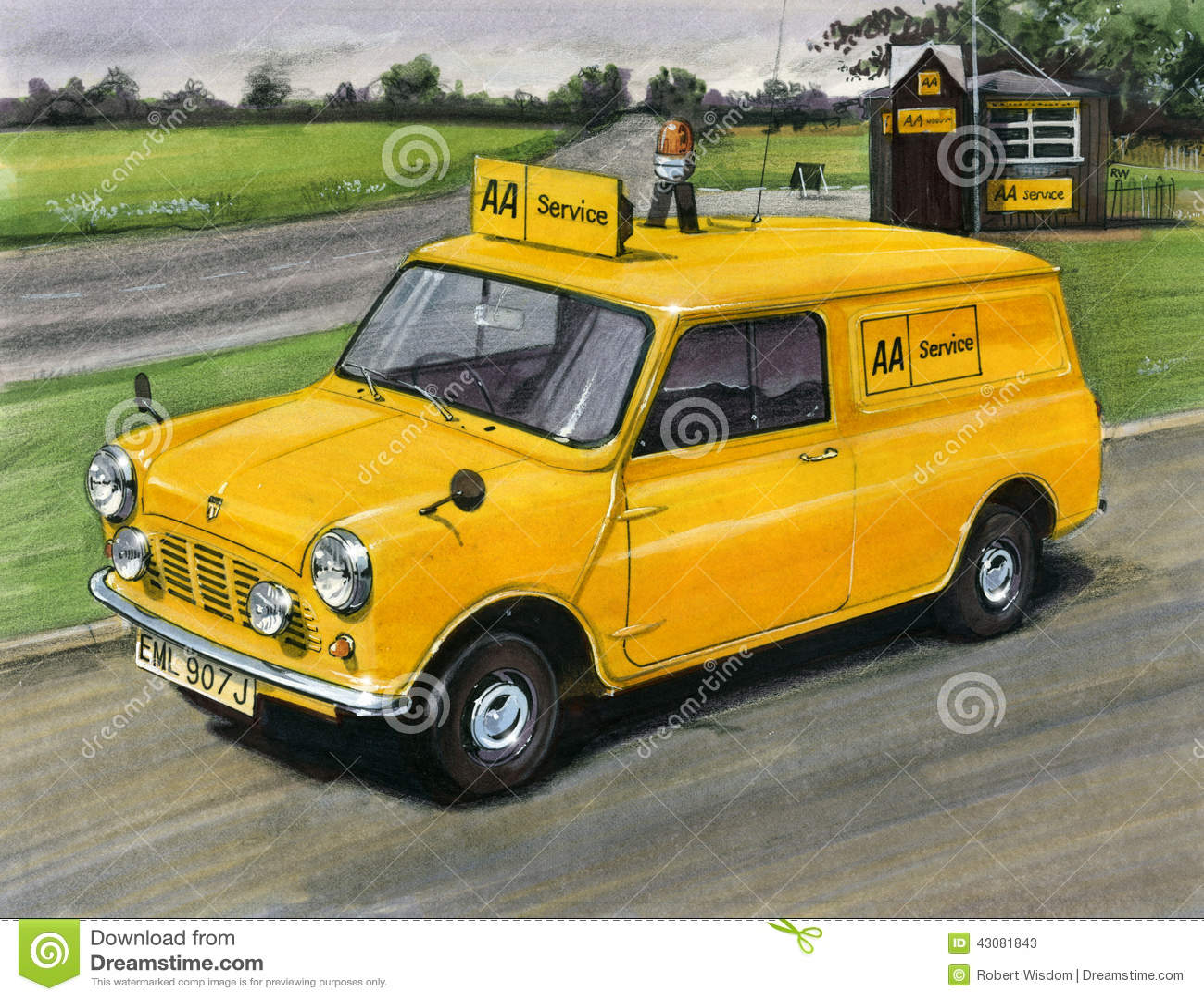 mini minivan automobile association aa editorial stock photo image 43081843. Black Bedroom Furniture Sets. Home Design Ideas