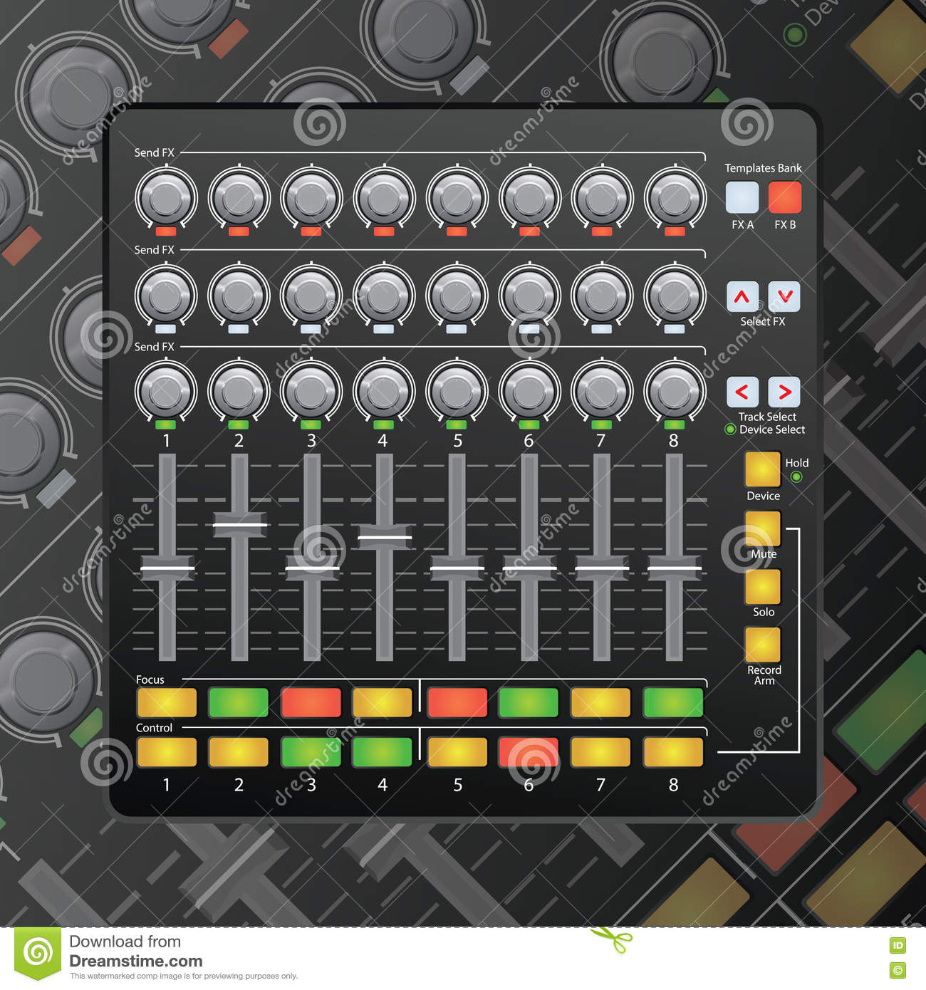 Mini Mixer Stock Vector Illustration Of Graphic Plugin 79718792 Download