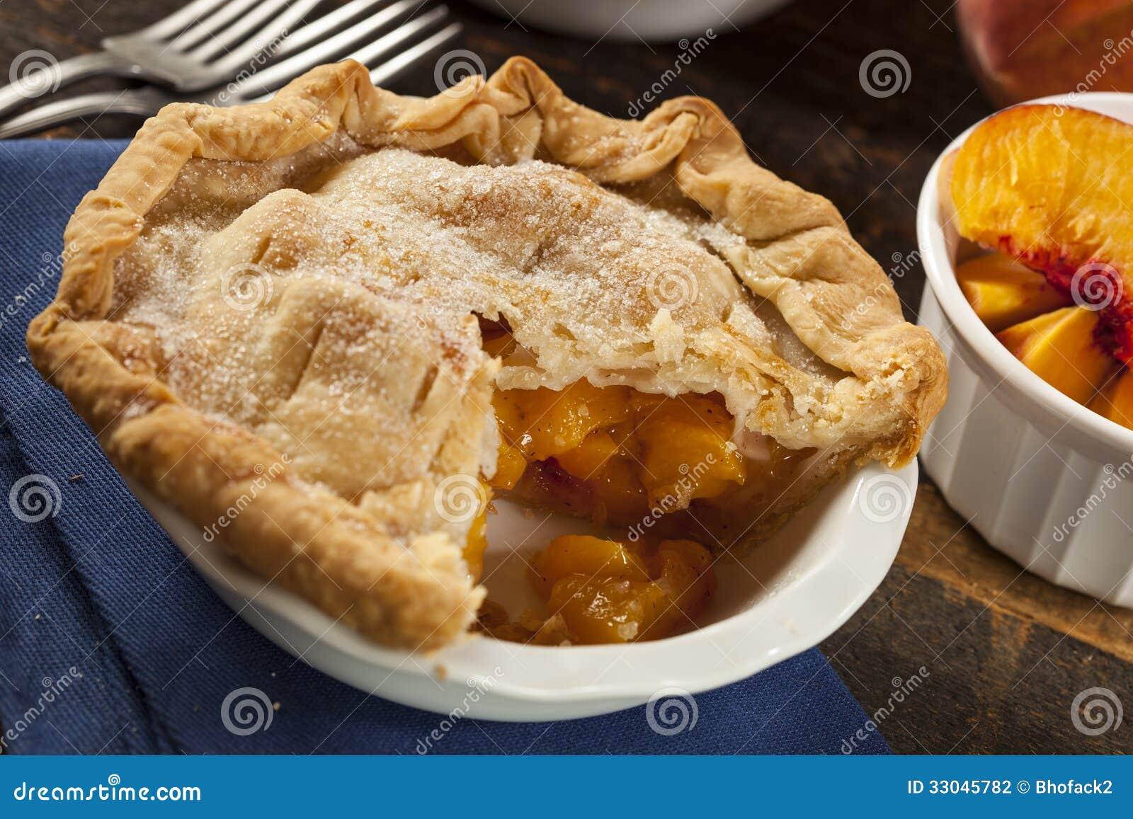 Mini Peach Pie Dessert Stock Photography - Image: 33045782
