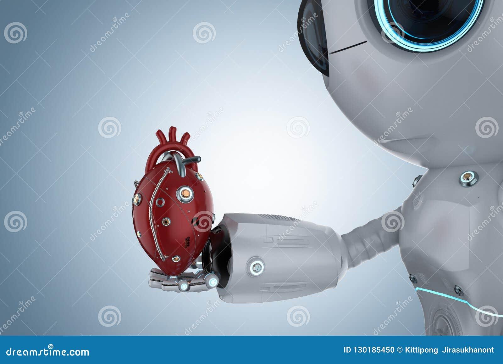 Mini robot avec le coeur robotique
