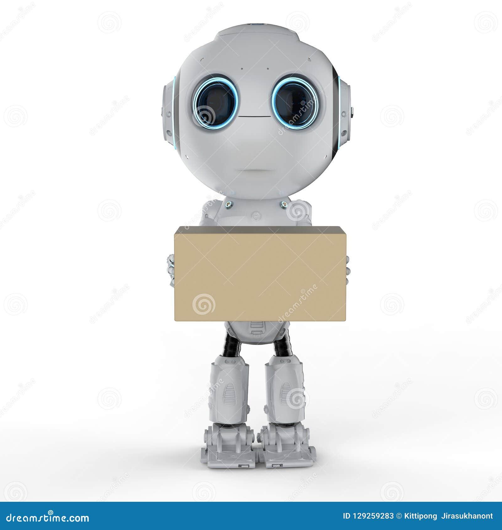 Mini robot con la scatola