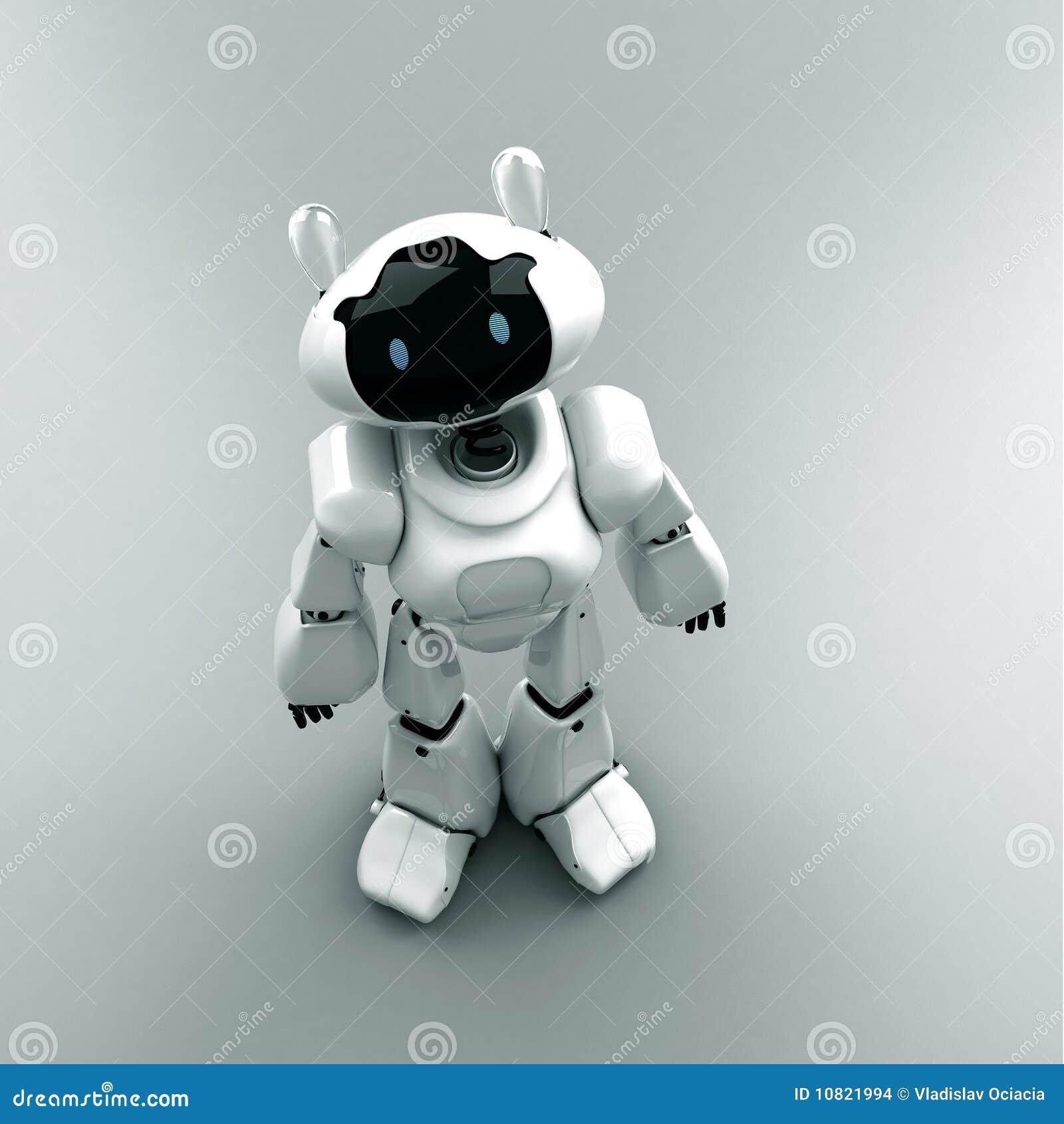 mini robot - organizer stock illustration  image of friend