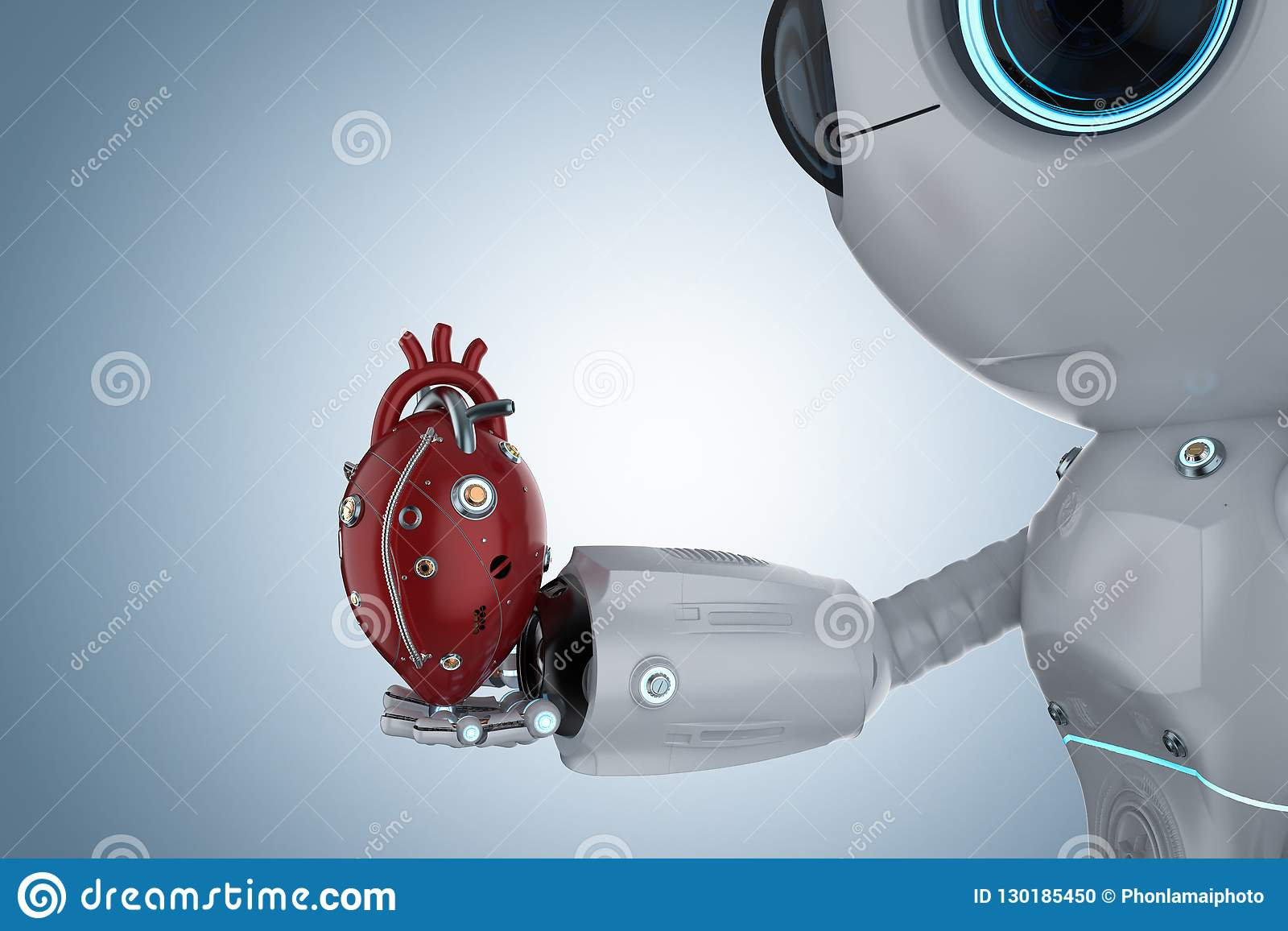 Mini robot with robotic heart