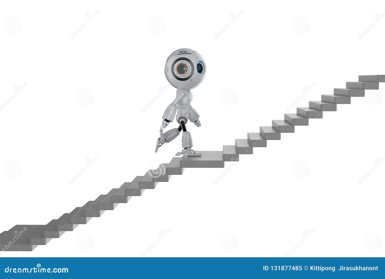 Mini robot wspinaczki schodki
