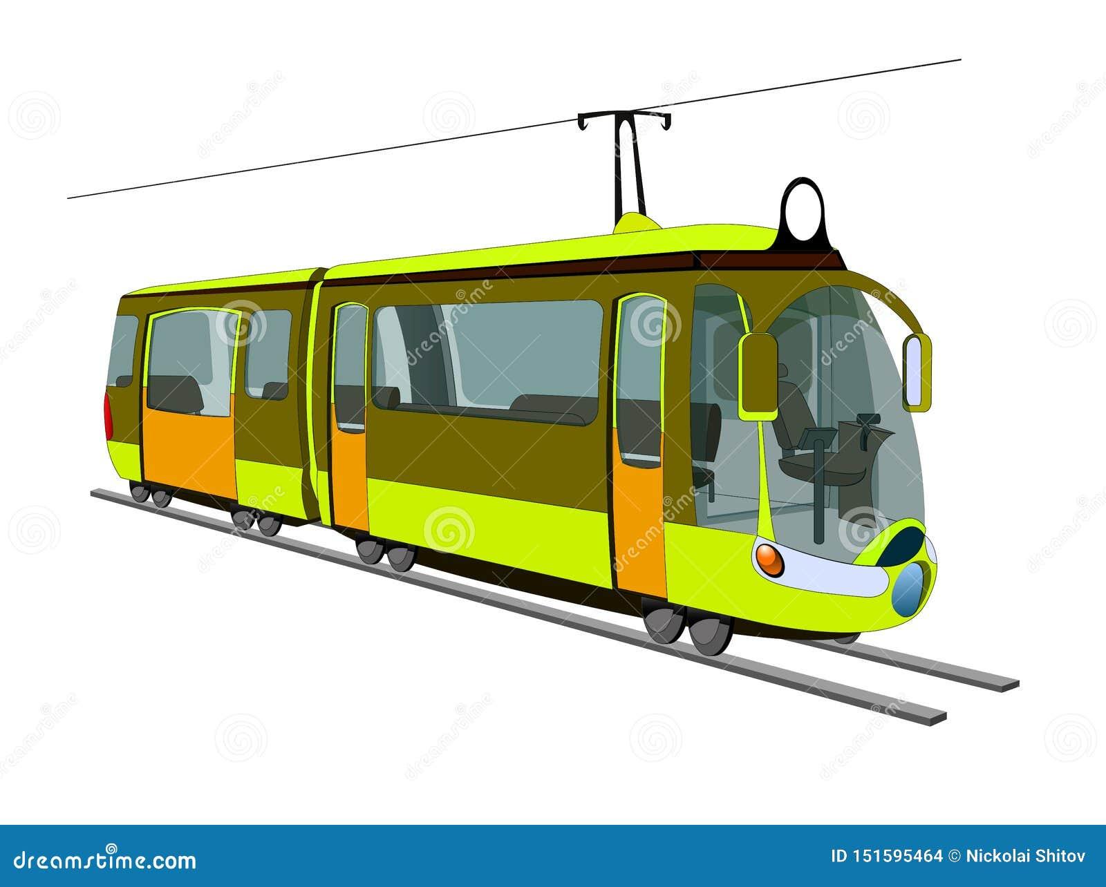 Mini- spårvagn för stad