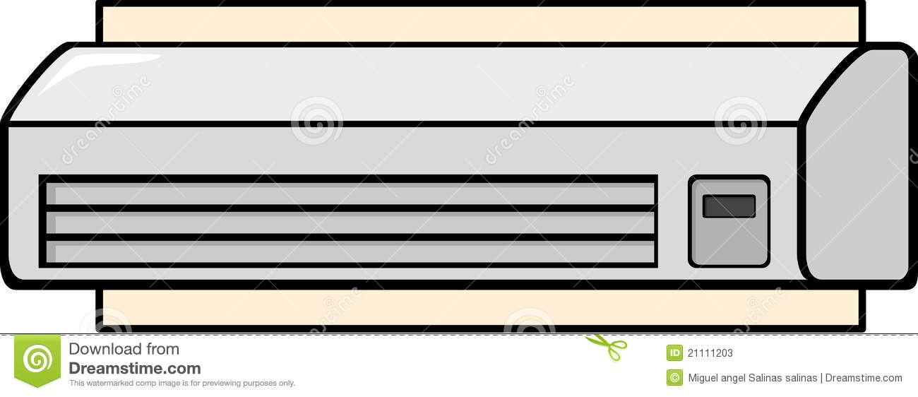 Mini split air conditioner stock vector. Image of split ...
