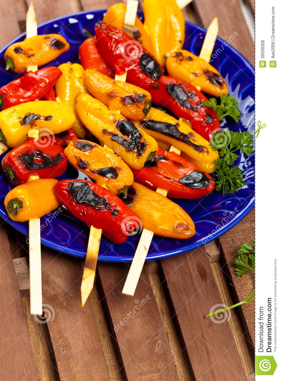 Mini Sweet Peppers grillé