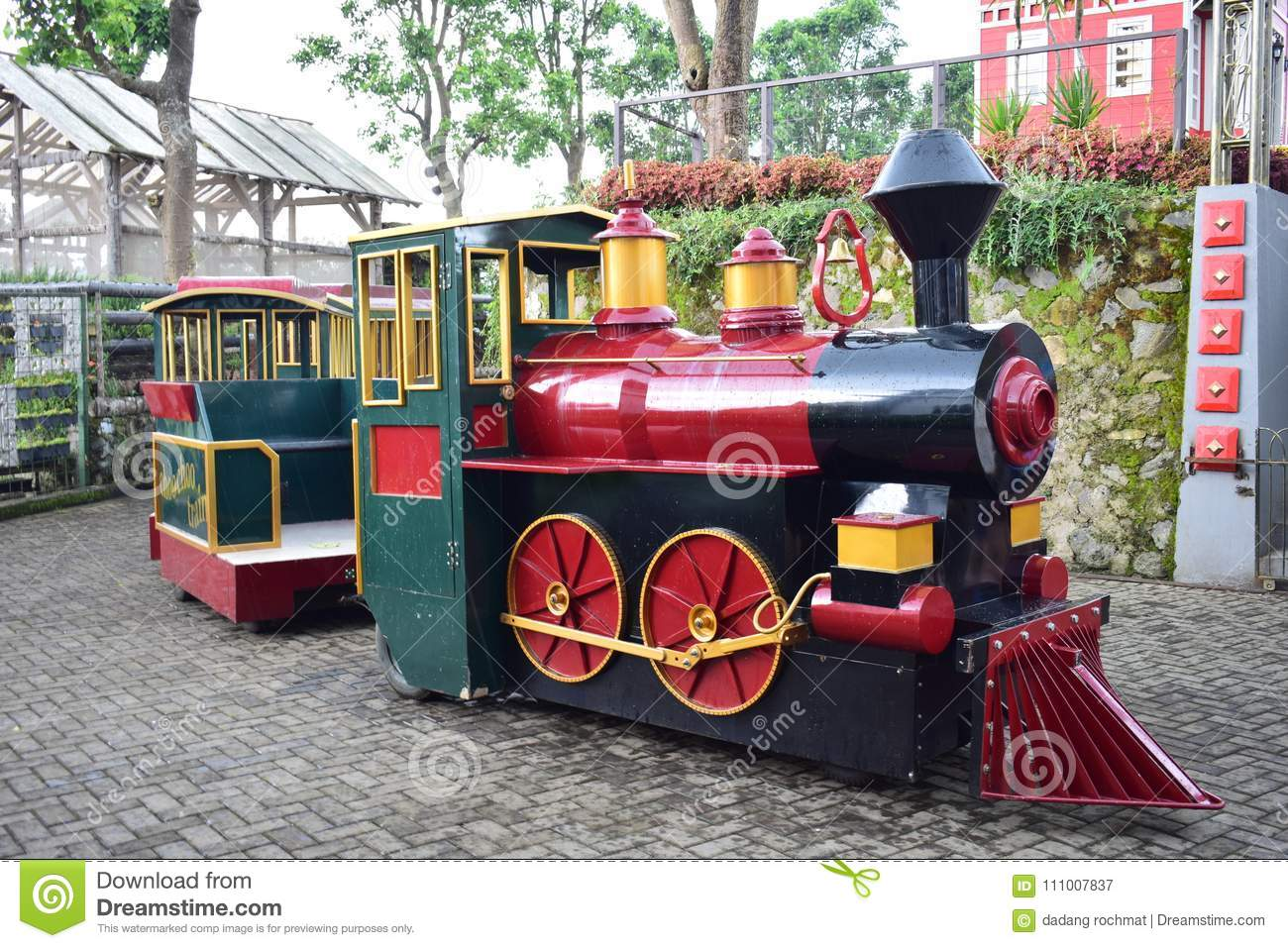 Mini Train For Kid Playing Travel Of Garden Stock Image