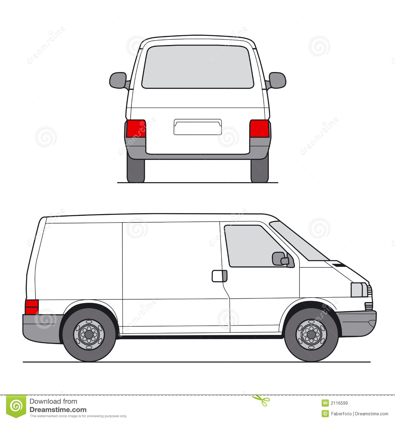 Mini Van Vector Royalty Free Stock Images - Image: 2116599