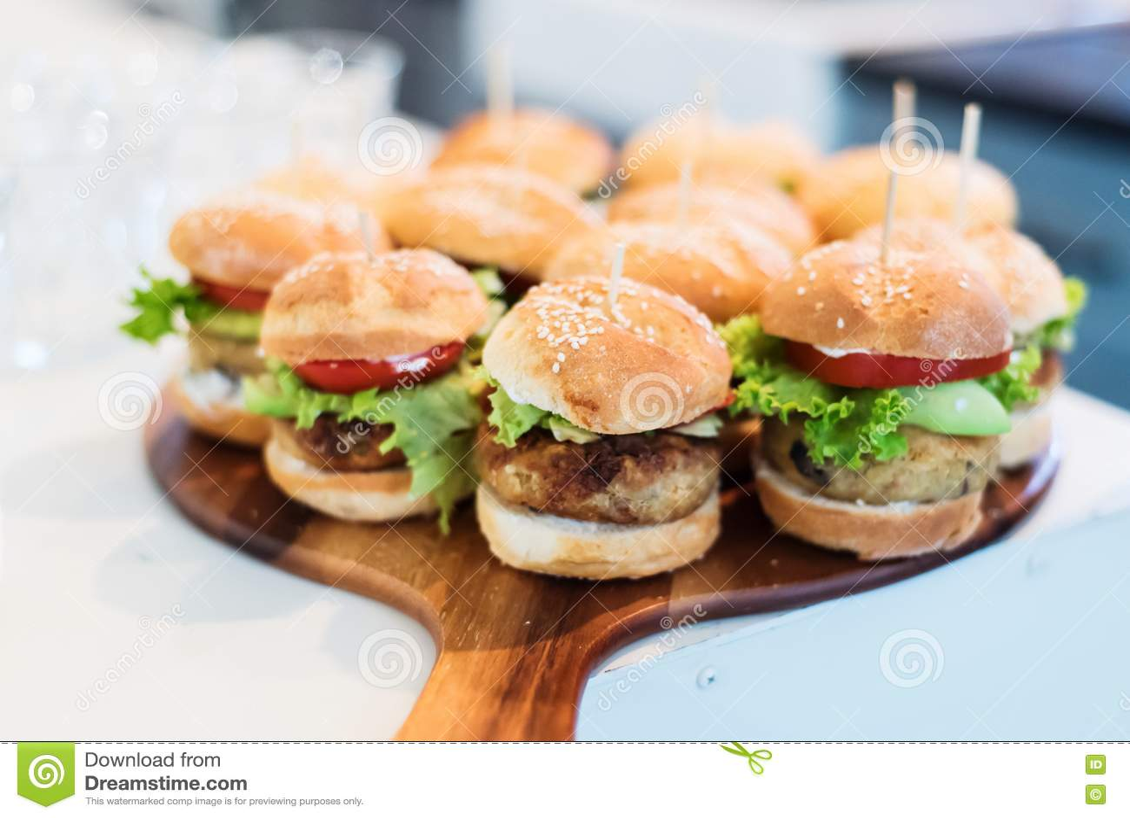 Mini vegan quinoa burgers