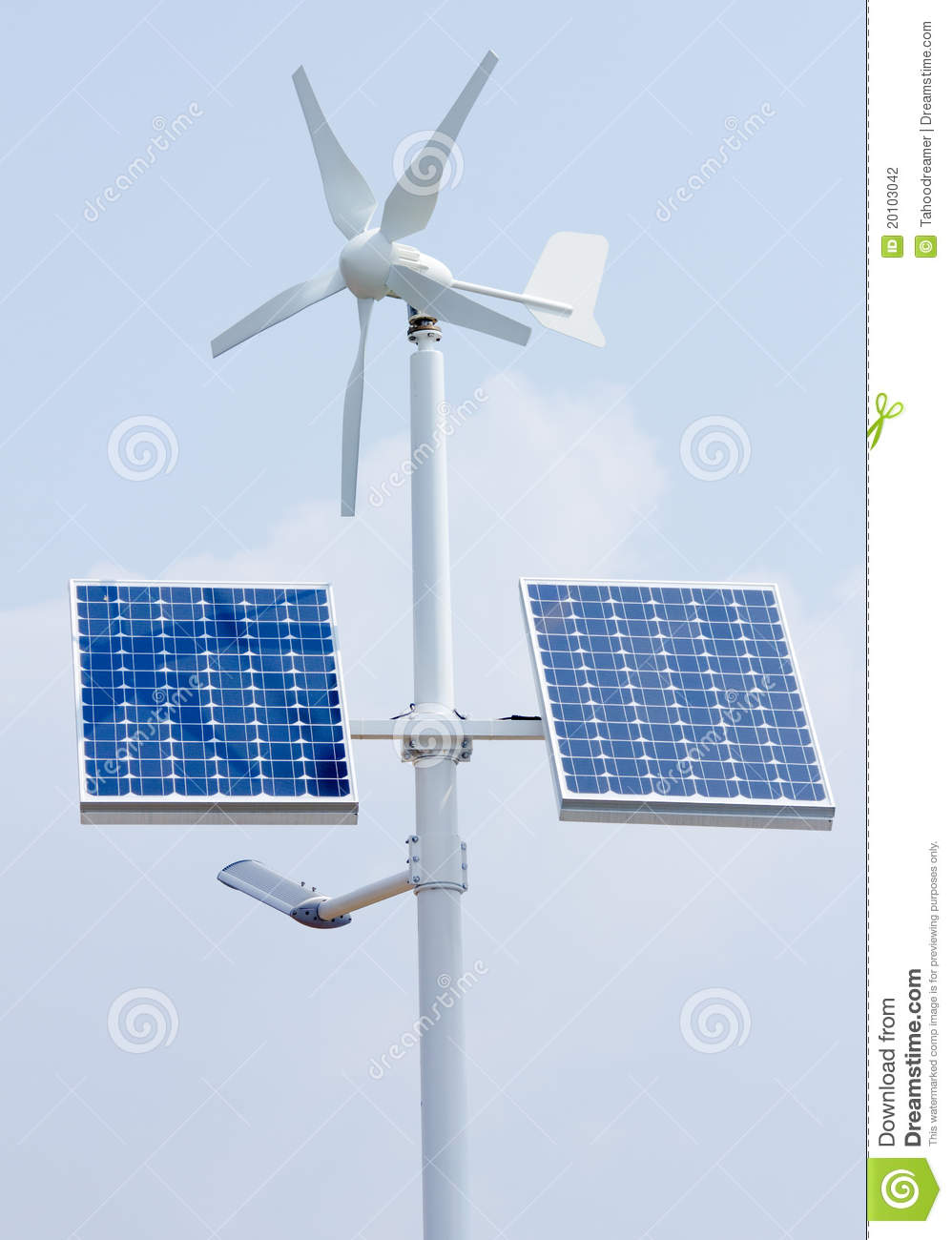 Mini Wind Power And Solar Panels Stock Photo - Image of