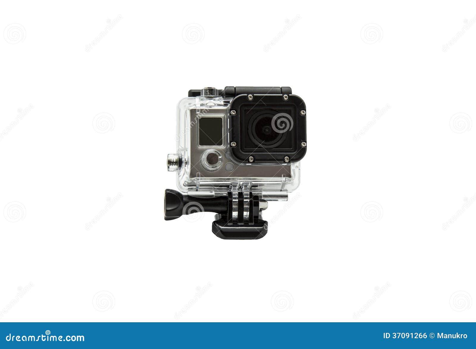 Download Mini wodoodporna kamera zdjęcie stock. Obraz złożonej z amator - 37091266