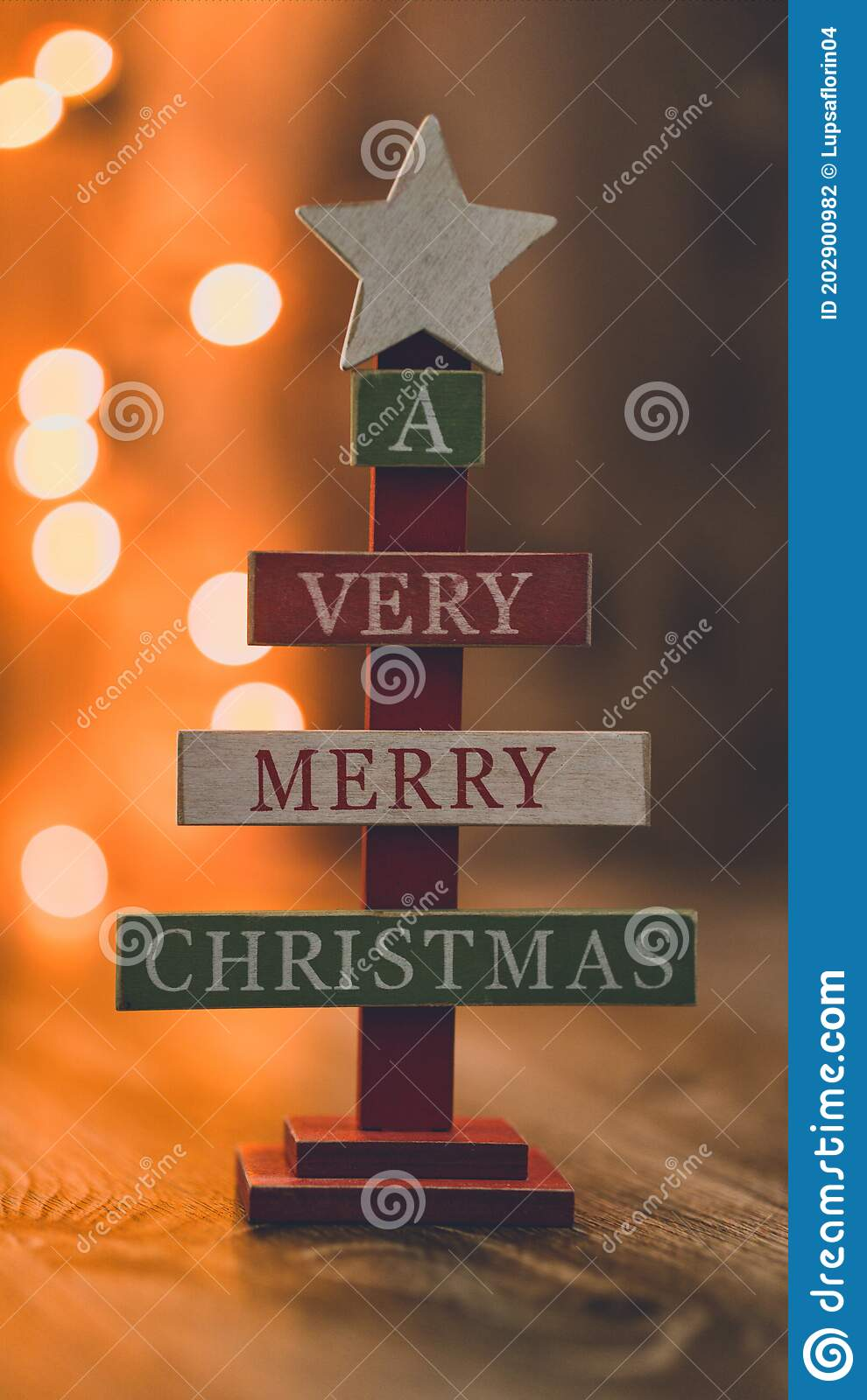 Handcrafted Wooden Sign Very Merry Christmas
