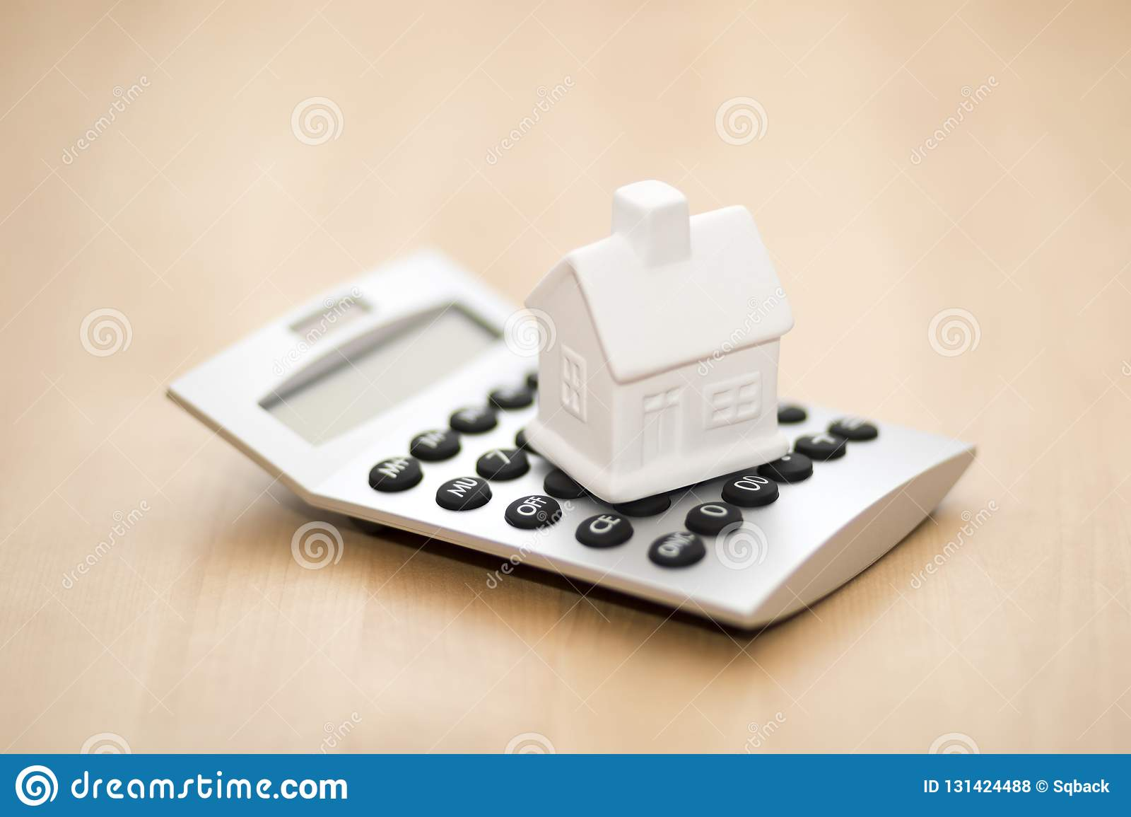 Miniatura de la casa en la calculadora