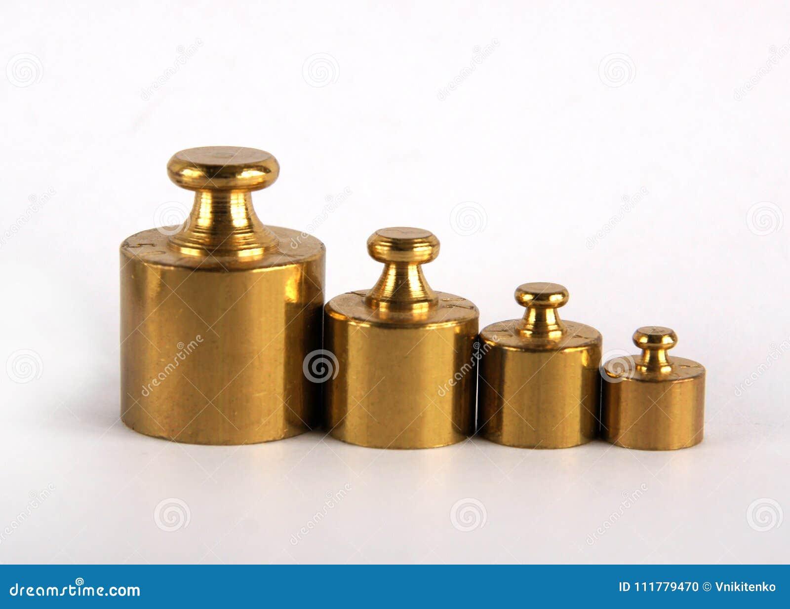 Miniature bronze vintage weights