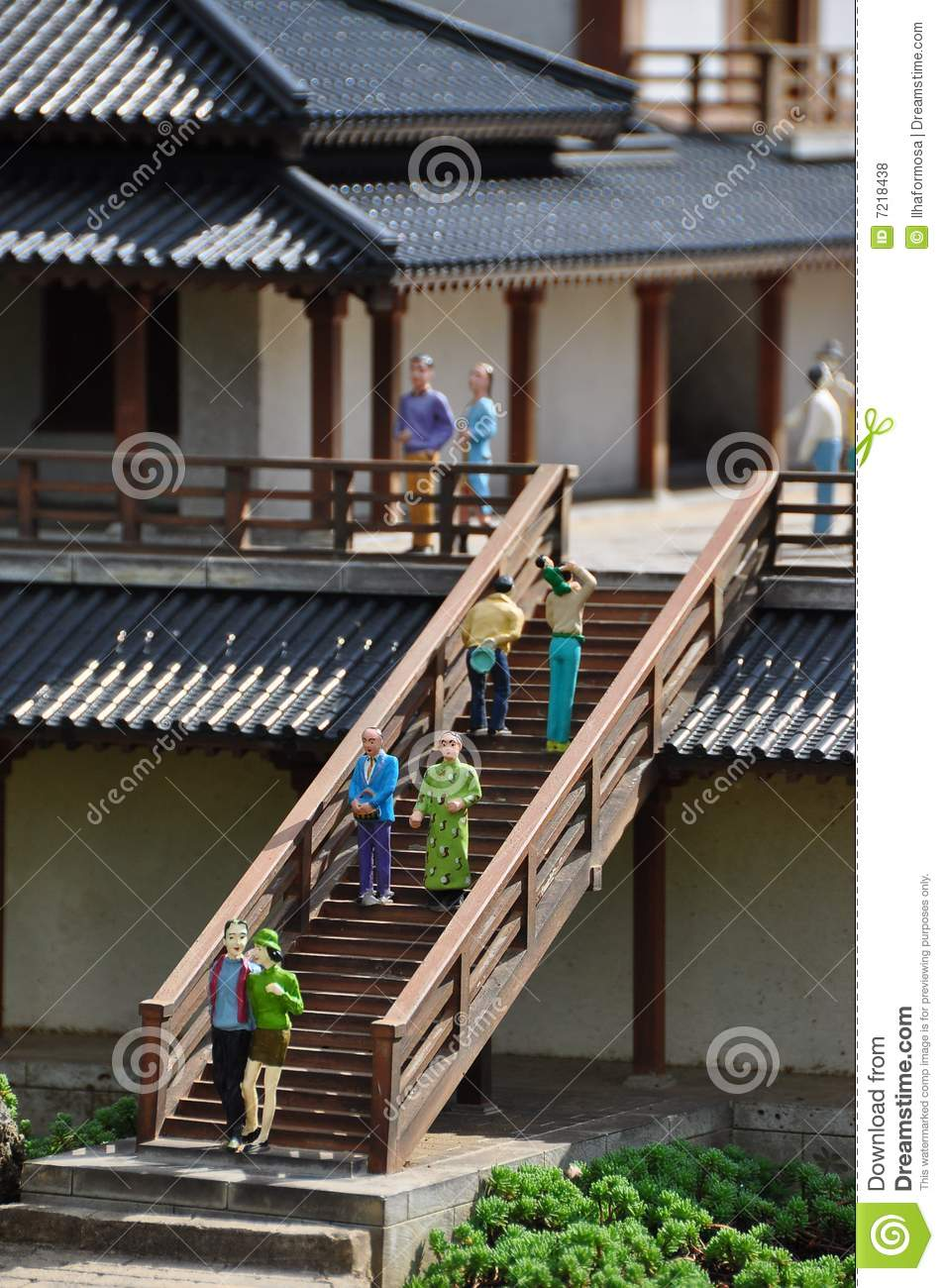 Miniature chinese architecture royalty free stock photos for Miniature architecture