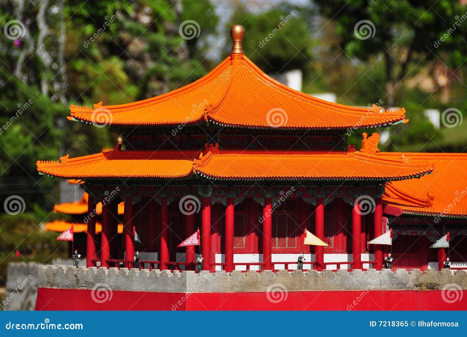 Miniature Chinese Pagoda Stock Image Image Of Pavilions