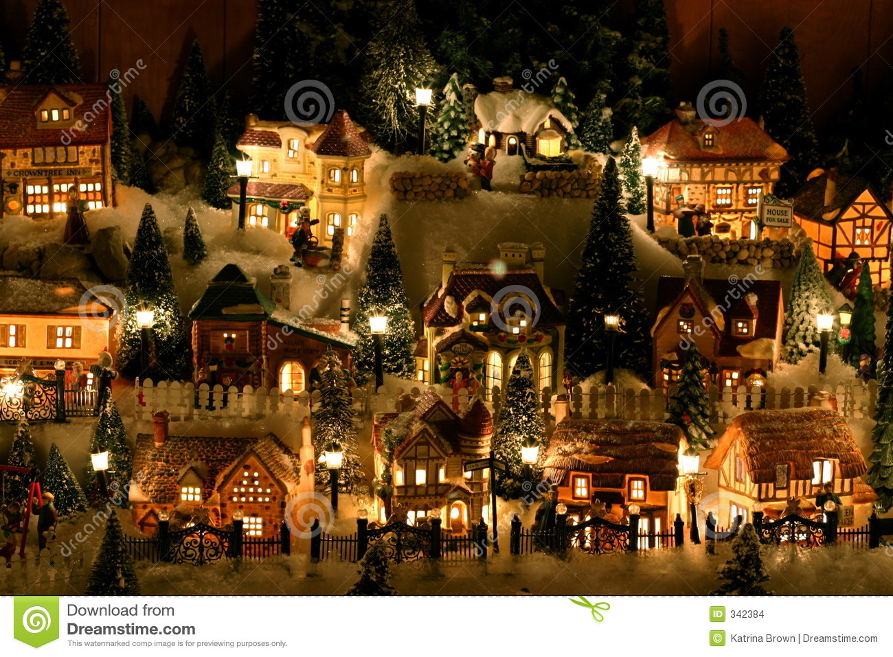Miniature Christmas Village Stock Images - Image: 342384