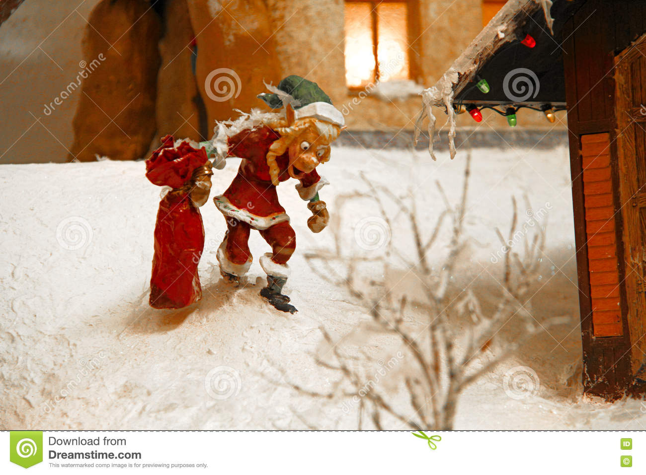 Miniature Christmas Village Stock Image Image Of Decor