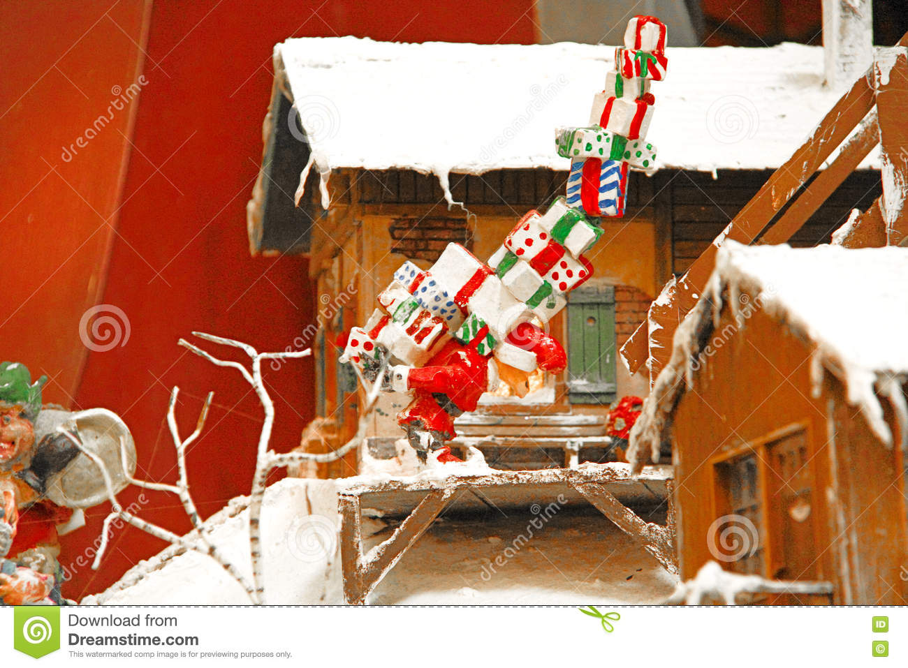 Miniature Christmas Village Stock Photo Image Of Decoration Give