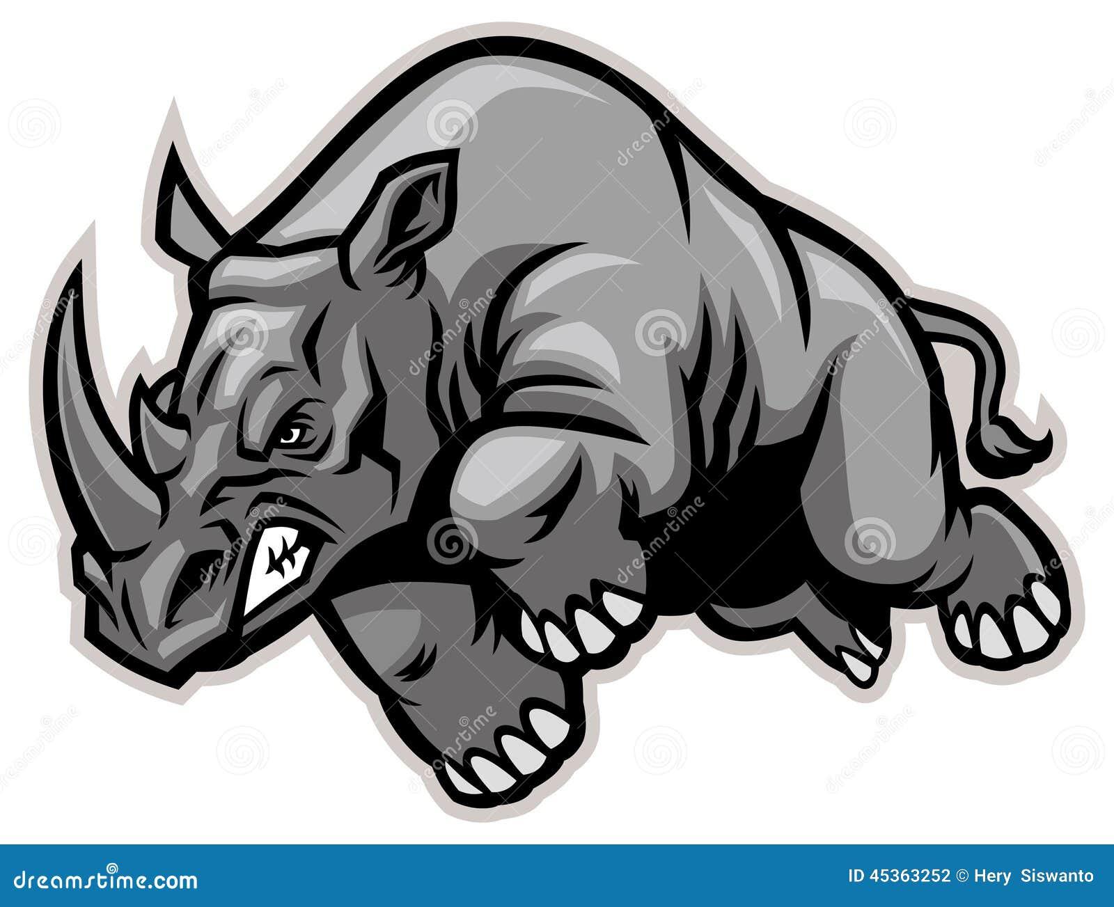 Miniature de rhinocéros avec le fond blanc