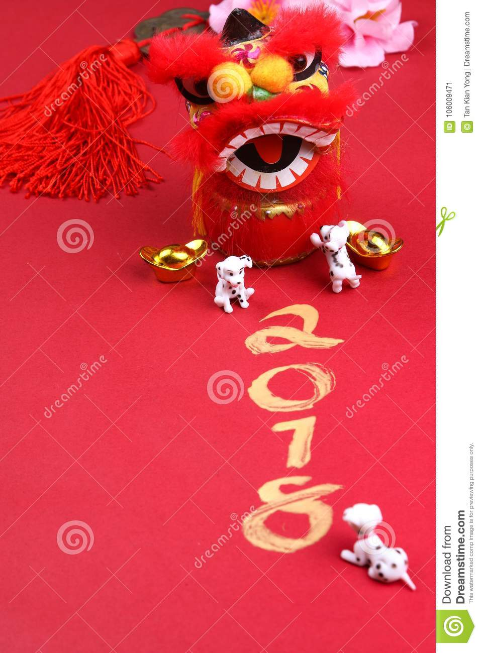 Miniature dogs with chinese new year decorations - Series 2