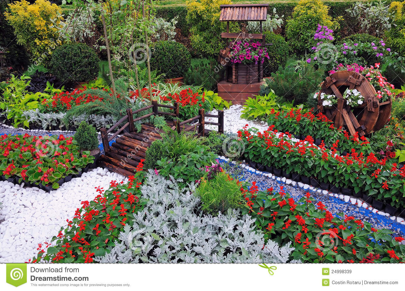 Miniature Garden Stock Image. Image Of Beautiful