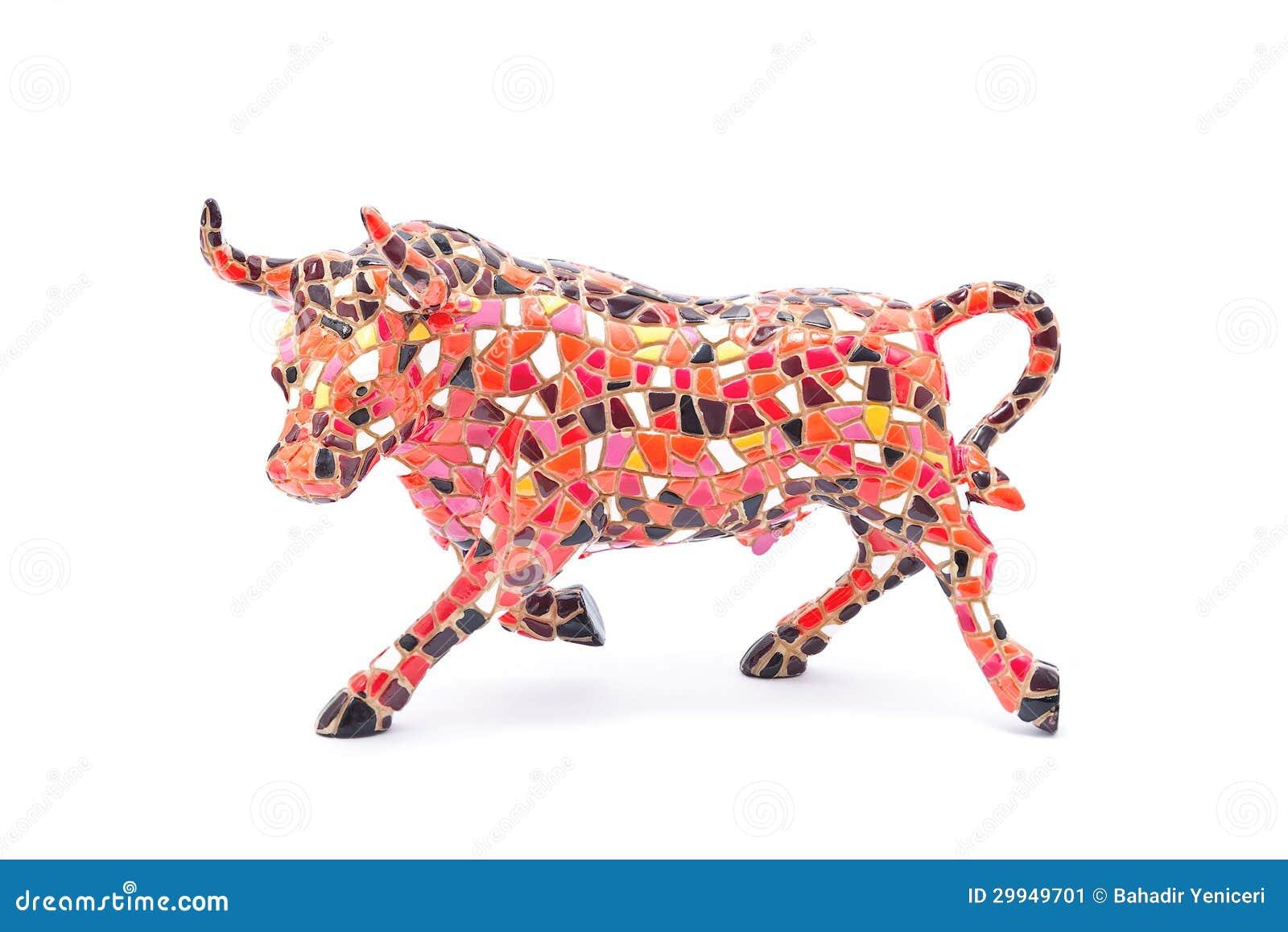Ceramic Bull Stock Image Image 29949701