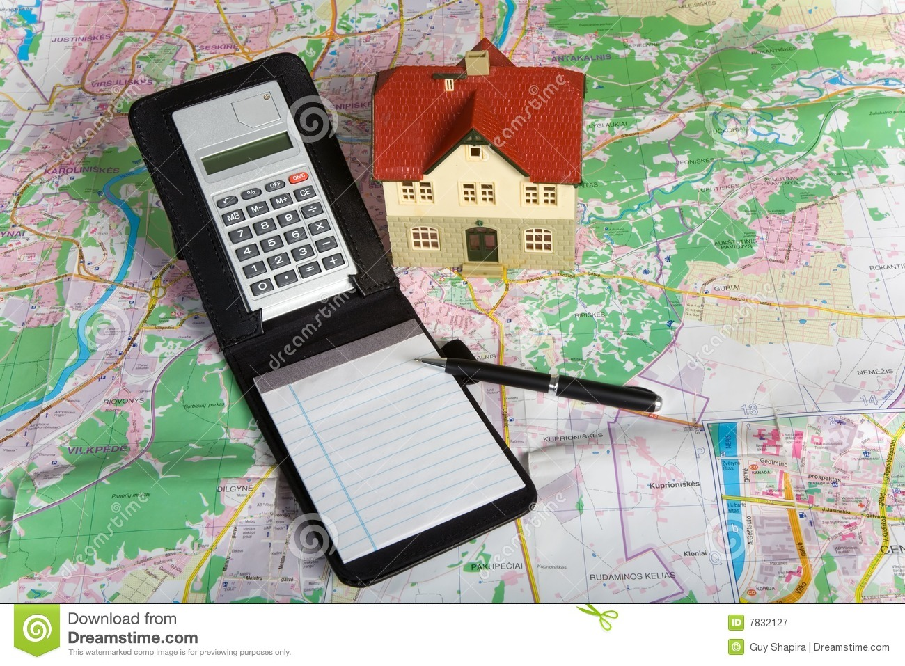 Miniature house on map royalty free stock photography Free house maps