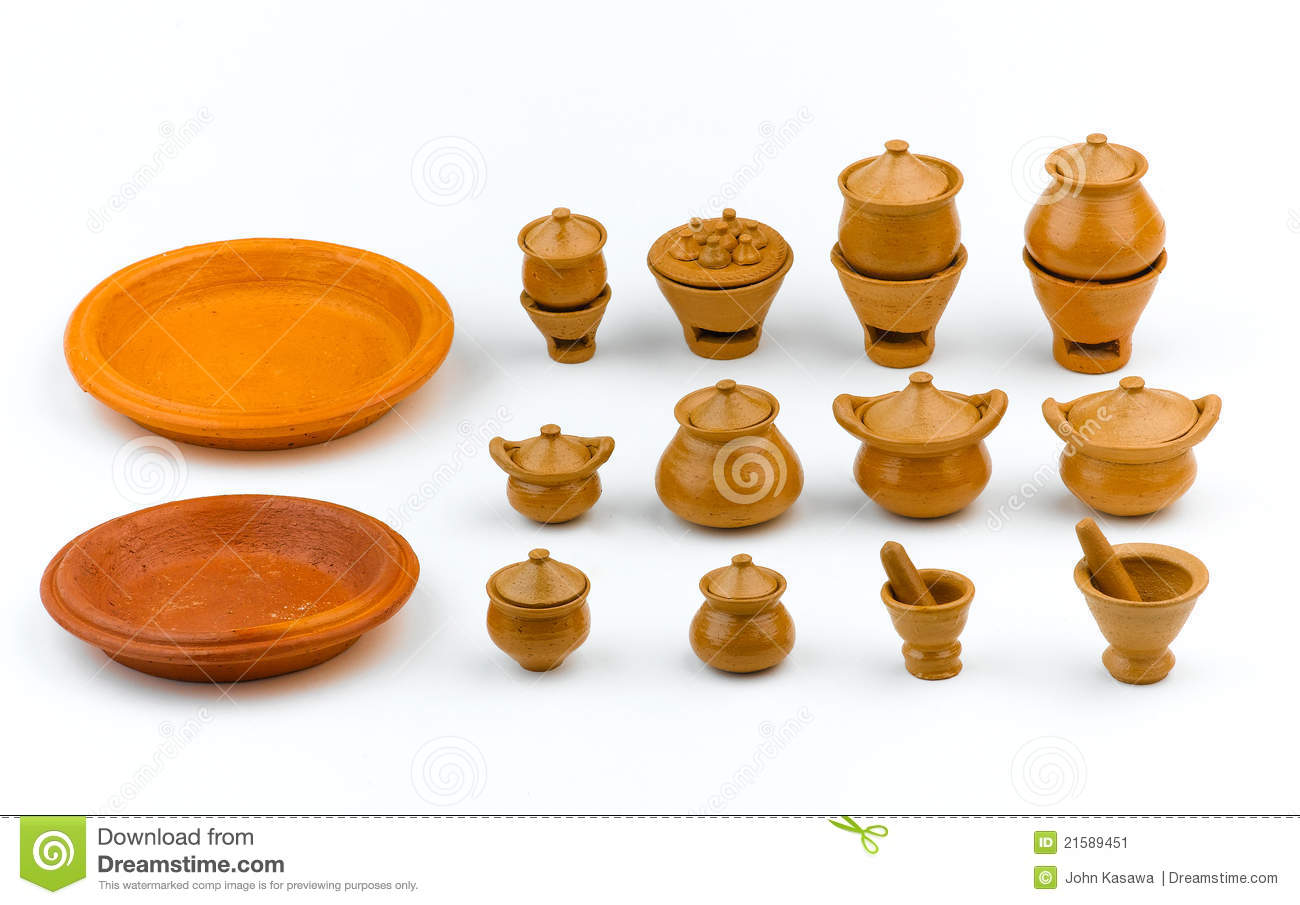 Kitchen Set Children Clay Toys Stock Images - Image: 21589454