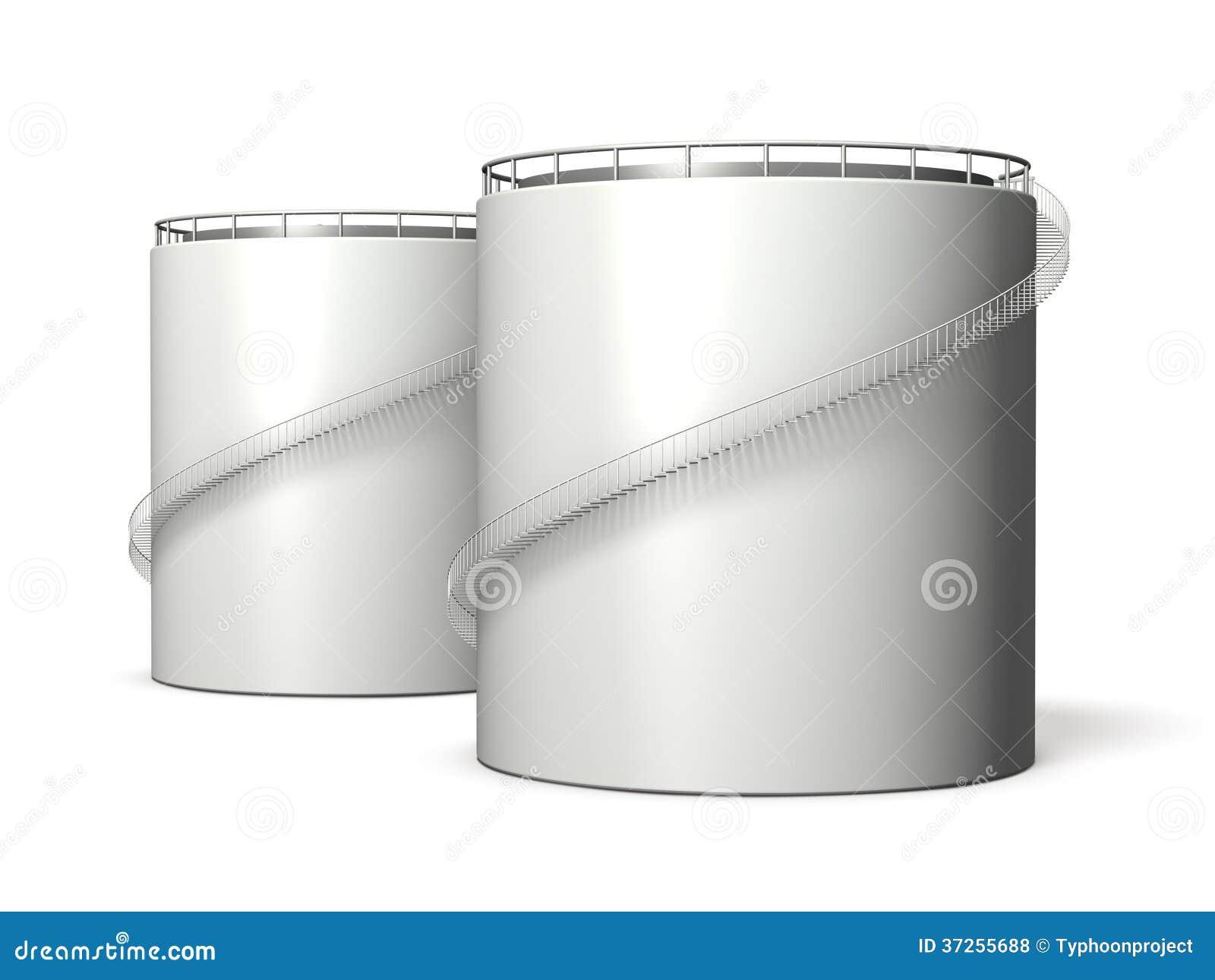 miniature model of oil tank royalty free stock photos